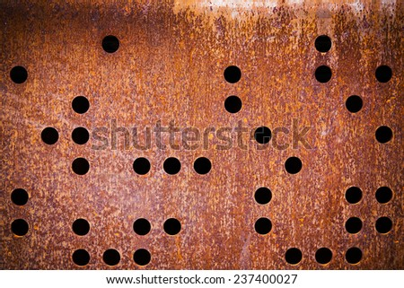 rusty iron disk texture