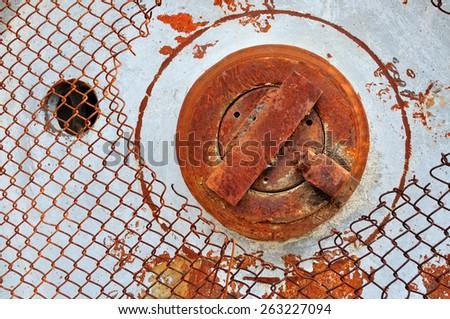 Rusty iron grunge background - stock photo