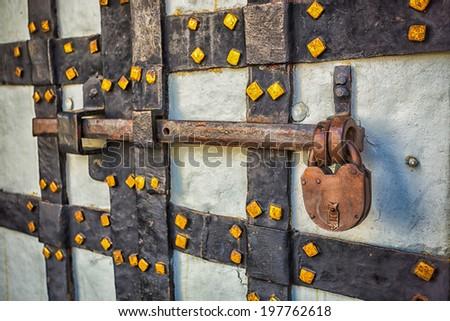 Old Deadbolt Locks Rusty Lock With Deadbolt on