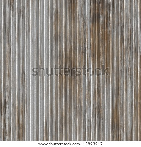 rusty looking zinc wall that can be seamlessly tiled - stock photo