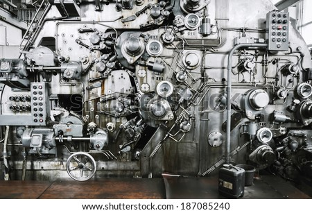 Rusty Mechanism of Banknote Equipment Manufacturers  - stock photo