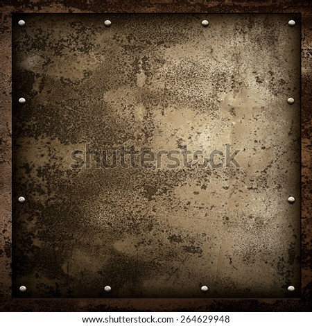 rusty metal background - stock photo