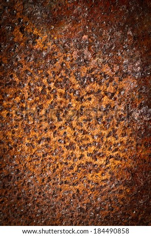 rusty metal background closeup  - stock photo