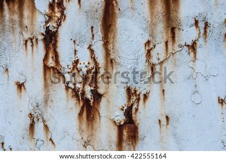Rusty metal background texture - stock photo