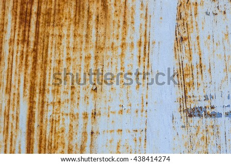 Rusty metal background with streaks of rust
