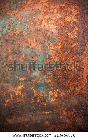 Rusty metal backround - stock photo