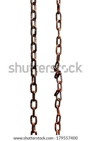 Rusty metal chains  - stock photo