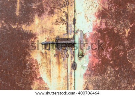 rusty metal lock