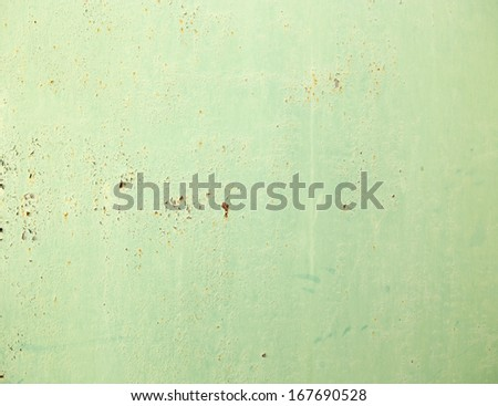 rusty metal painted green paint - stock photo