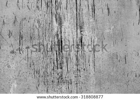 Rusty metal painted plate background, black and white