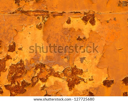 Rusty metal panel background - stock photo