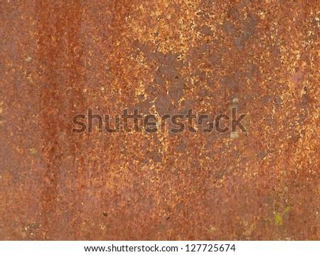 Rusty metal panel detail - stock photo