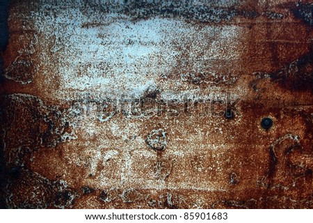 rusty metal plate grunge background - stock photo