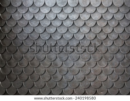 Rusty metal scales armor background - stock photo