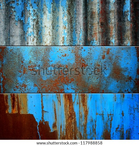rusty metal set - stock photo