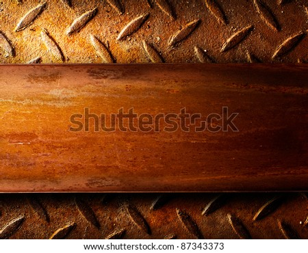 Rusty metal template background