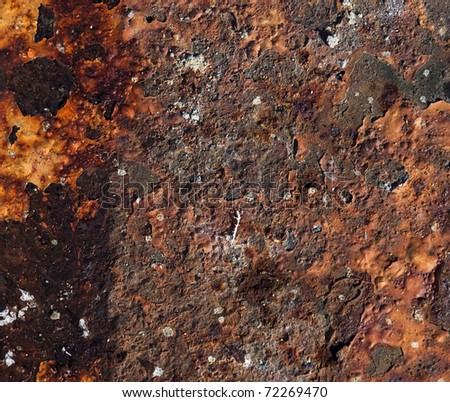 Rusty metal texture for background - stock photo