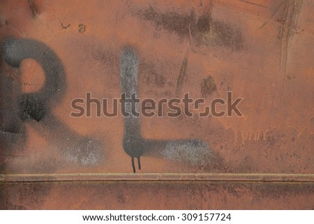 Rusty metal wall, grunge texture