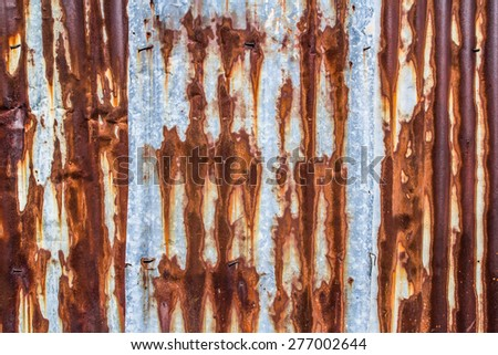 Rusty Metal Wall Texture Surface Background