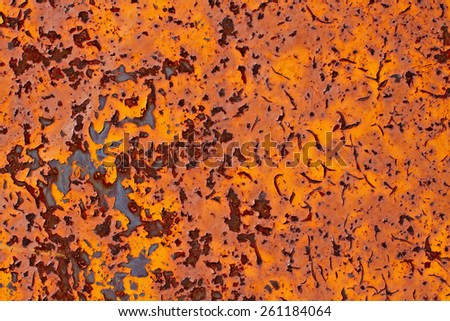 Rusty metal with cracked paint grunge background with space for text or image