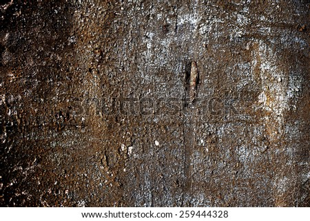rusty metallic background with shabby old paint and aged by time - stock photo