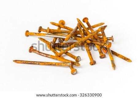 Rusty nail - stock photo