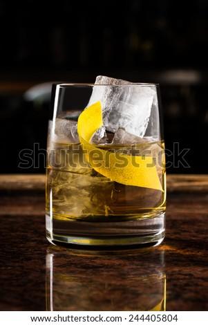 rusty nail cocktail - stock photo