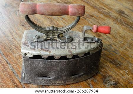 rusty old iron - stock photo