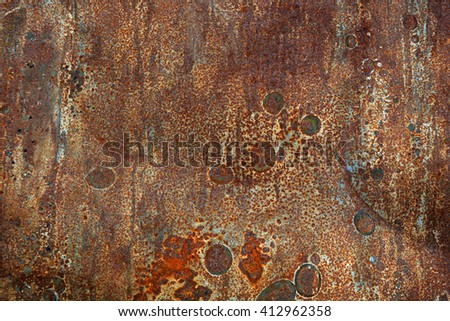 Rusty old metal abstract background - stock photo