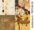 Rusty on Metal Texture Collection - stock photo
