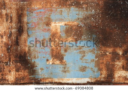 Rusty Parking sign - stock photo