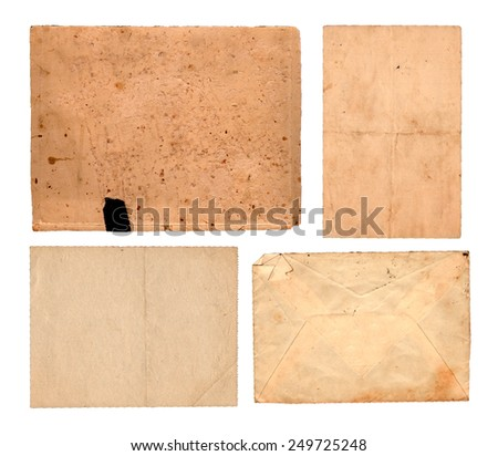 Rusty pieces of paper - stock photo