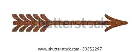 rusty pointer - stock photo