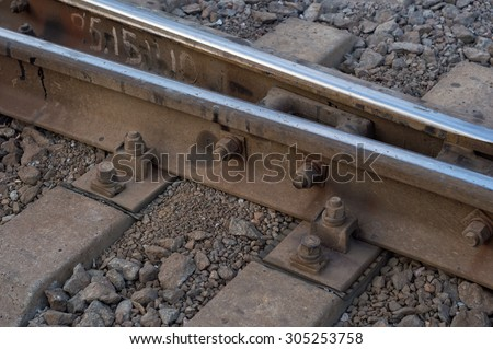 Rusty rails at the fork