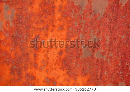 Rusty red brown red background. Macro metal surface. - stock photo