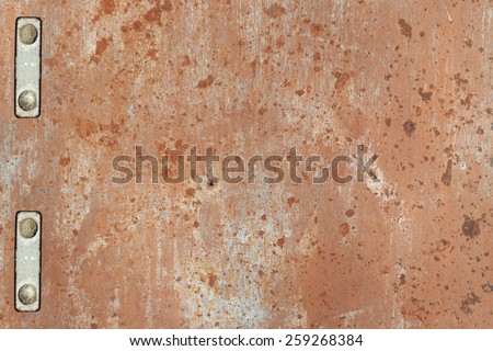 rusty sheet metal with rivets background - stock photo