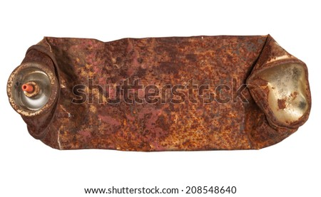 Rusty spray can - stock photo