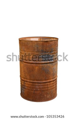 rusty steal barrel
