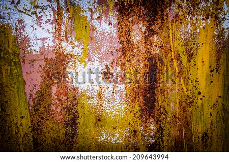 Rusty texture of a metal iron,Abstract background  - stock photo