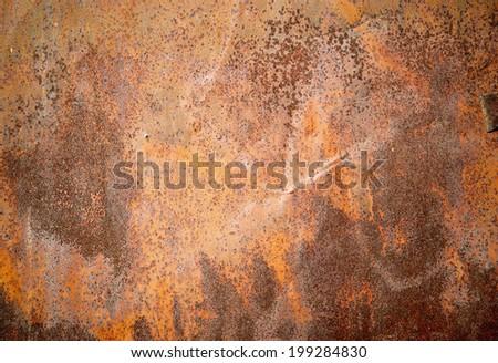 Rusty textured metal background  - stock photo