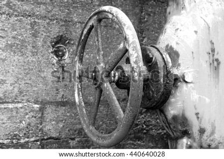 rusty valve - stock photo