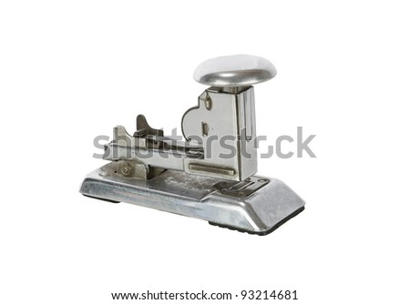 Rusty Vintage Stapler isolated on white