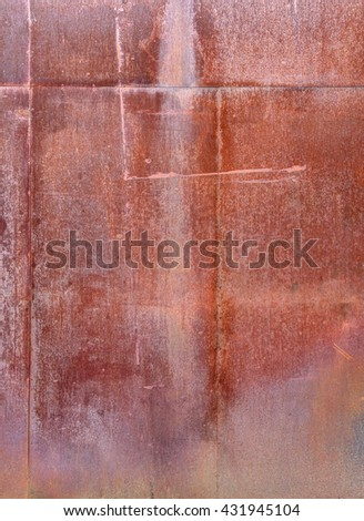 rusty weathered old textured metal background detail - stock photo