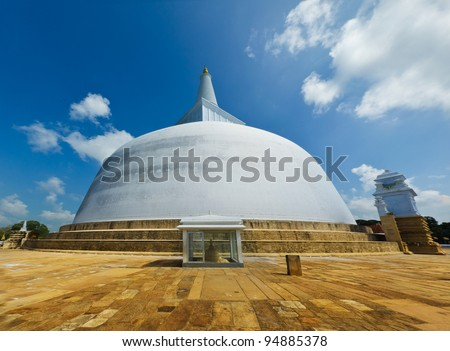 Ruwanwelisaya Chedi in the sacred city of Anuradhapura, Sri Lanka, also known as Mahathupa and Rathnamali Dagaba.