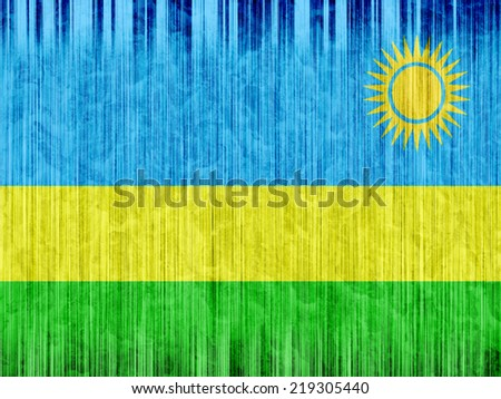 Rwanda flag paper texture - stock photo
