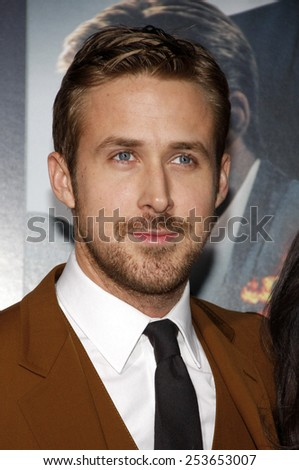 "Ryan Gosling at the Los Angeles premiere of ""Gangster Squad"" held at the Grauman's Chinese Theatre in Los Angeles, California, United States on January 7, 2013."