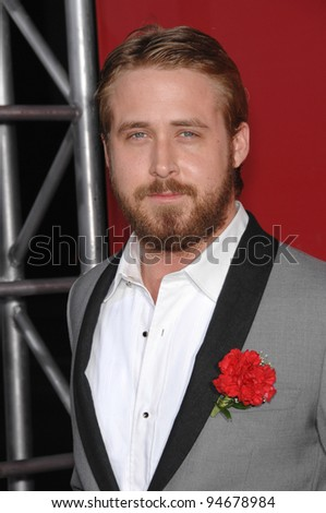 "Ryan Gosling at the Los Angeles premiere of his new movie ""Lars and the Real Girl"". October 3, 2007  Los Angeles, CA Picture: Paul Smith / Featureflash - stock photo"