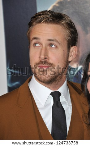"""Ryan Gosling at the world premiere of his movie """"Gangster Squad"""" at Grauman's Chinese Theatre, Hollywood. January 7, 2013  Los Angeles, CA Picture: Paul Smith - stock photo"""