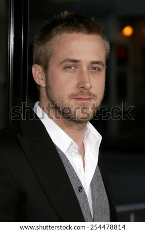 "Ryan Gosling attends the Los Angeles Premiere of ""Fracture"" held at the Mann Village Theater in Westwood, California on April 11, 2007.  - stock photo"