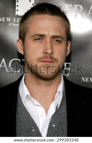 Ryan Gosling attends the Los Angeles Premiere of Fracture held at the Mann Village Theater in Westwood, California on April 11, 2007. - stock photo